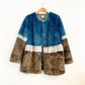 Anthropologie Molliolli Large Faux Fur Jacket